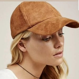 Free People Williamsburg Faux Suede Baseball Hat .